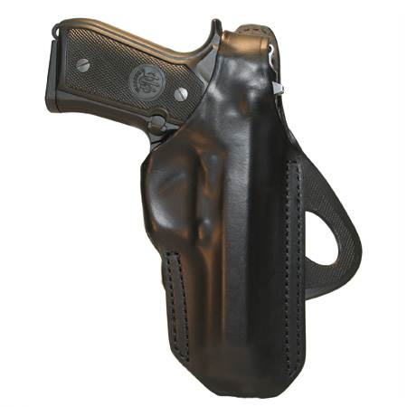 BlackHawk Angle Adjustable Paddle Leather Concealment Holster-Left Hand (BH-420608BK-L)