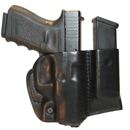 Leather Slide Holster W/Mag for Sig 226 - (Slide with Mag Pouch Only) -Left Hand