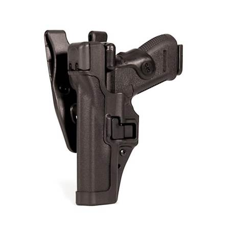 BlackHawk Level 3 Serpa Auto Lock Duty Holster for pictol with or w/o rails -Left Hand (BH-44H104PL-L)